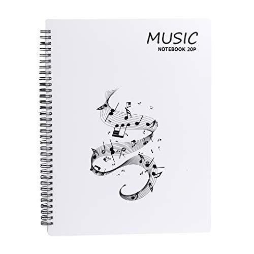 Raccoglitore Porta Spartiti Musicali Cartelle Portaspartiti per Fogli Formato A4 con 40 Tasche clef Scrivibile Borsa porta Documenti Musicale Per