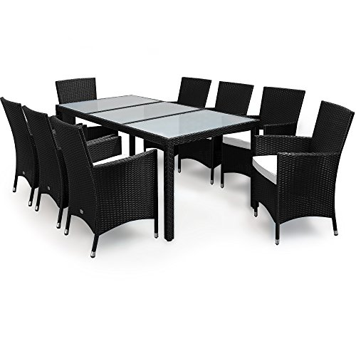 Poly Rattan Garden Furniture Dining Set Rectangular Table  : 416yx1ykCjL from www.uk-rattanfurniture.com size 500 x 500 jpeg 31kB