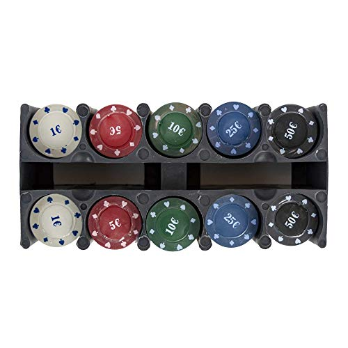 Set 200 fiches colorate apposito contenitore chips per poker texas hold em. MEDIA WAVE store