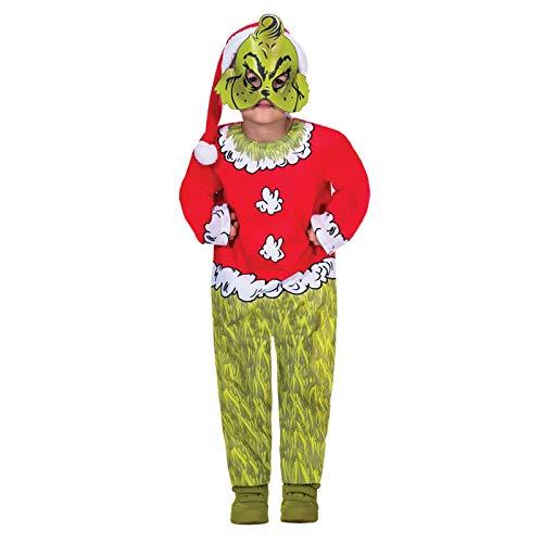 Der Grinch Jumpsuit - Weihnachten Kostüm Kinder - Grinch Kostüm Kind