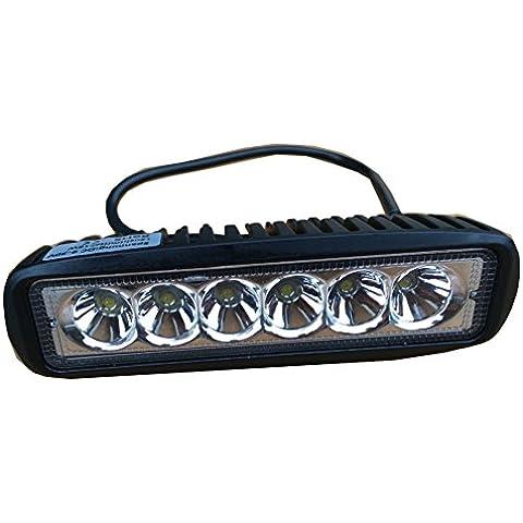chuangke 18W LED Luce di lavoro bar auto automobile auto fuoristrada luci fendinebbia