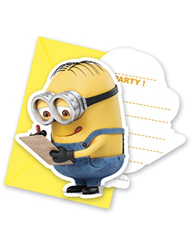 Einladungskarten Minions 6er Pack (Geburtstag Minion Party-einladungen)