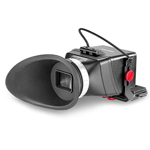 Neewer® Universale Ingrandimento 3X LCD Mirino con Conchiglia Oculare Flip-Up & Staffa Estendibile per Fotocamere DSLR Canon, Nikon, Sony, Olympus, Pentax, Adatto a Schermo LCD da 3