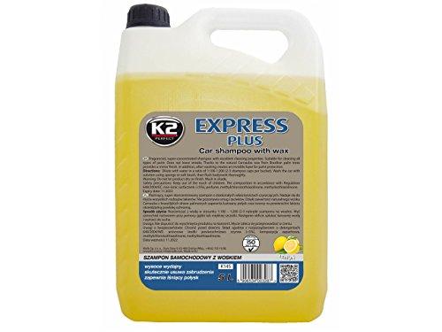 Autoshampoo K2 EXPRESS Plus Kanister 5 Liter Wachs Duft Lemon Auto Waschmittel