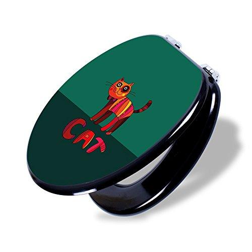 Preisvergleich Produktbild banjado - Design Toilettendeckel WC Sitz Brille 36m x 5cm x 45cm mit Motiv Orange Katze, Toilettendeckel:Schwarz