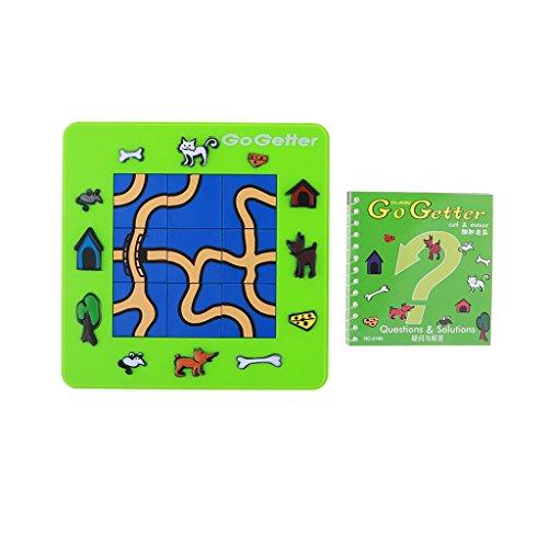 Homyl Jeu Puzzle Labyrinthe Chat et Souris Jouet d'Educatif Enfants