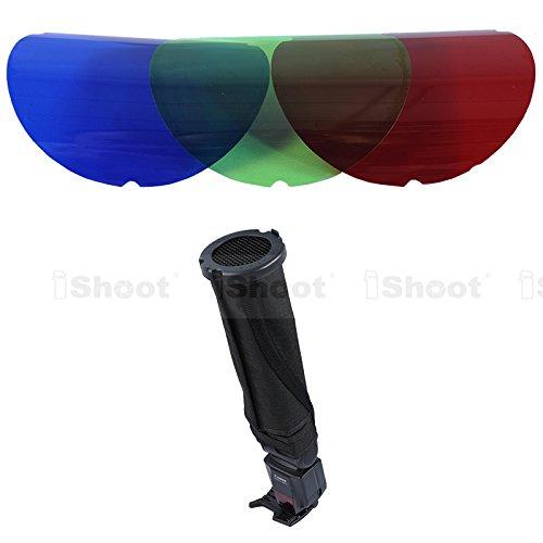 25° + 45° Wabengitter + Farbe Filter + Reflektierende Snoot faltbar Reflektor vielseitig Speedlite Flash Softbox Diffusor - Grid Snoot