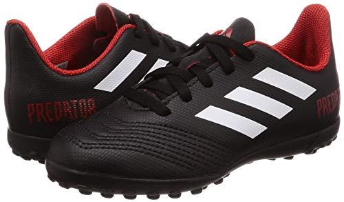 adidas Unisex Kids    Predator Tango 18 4 Tf J Football Boots  Black  Negb  s Ftwbla Rojo 001   3 UK