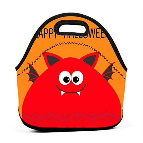 Lunch-Taschen für Damen, lustiges Halloween-Monster-Kopf-Design, wiederverwendbare Snack-Taschen, süße Kleinkind-Lunchtaschen, mit 3D-Druck, kleine Handtaschen