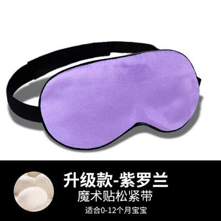 yzhk schlafmaske Schwarz Baby Silk Augenmaske Schlafen Nickerchen Schattieren Sonne 0-12 Monate Neugeborenes Baby Schlafen, Upgrade Klettverschluss - Violett
