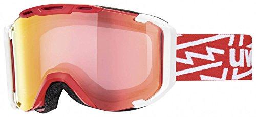 UVEX Skibrille snowstrike VM, Red/White/Ltm Red, One size, S5504253023