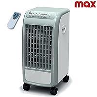 Refrigeratore-Ventilatore ed umidificatore a tre livelli di potenza, smuove fino a 300 metri cubi di aria in un'ora. Refrigeratore in totale rispetto dell'ambiente grazie al suo sistema di evaporazione dell'acqua e con risparmio energetico, 7...