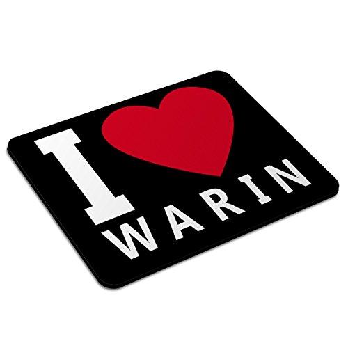 Mousepad Warin personalisiert - Motiv I Love - Städtemousepad, personalisiertes Mauspad, Gaming-Pad, Maus-Unterlage, Mausmatte