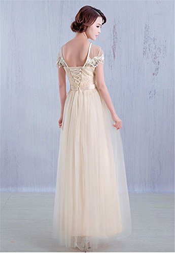 Drasawee - Robe - Taille empire - Femme Champagne