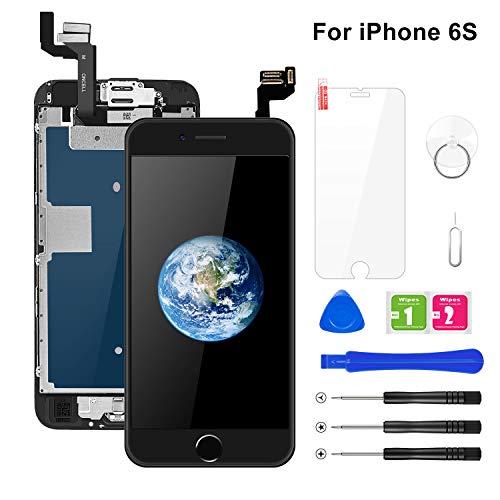 buture schermo per iphone 6s lcd touch display nero(4.7 pollici) ,assemblaggio digitalizzatore compatibile(con home pulsante, fotocamera,altoparlante,sensore di prossimit) kit completo di riparazione