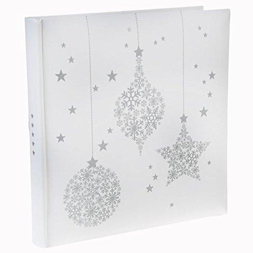 SANTEX 4488-1, Livre d'or Flocons, blanc