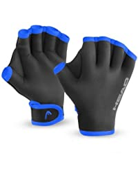Head Swim Training Glove, unisex, Swim Glove, Black/Blue, S/M