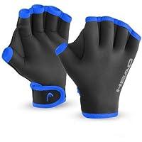 HEAD Swim Training Glove, Unisex, color negro y azul, tamaño MD