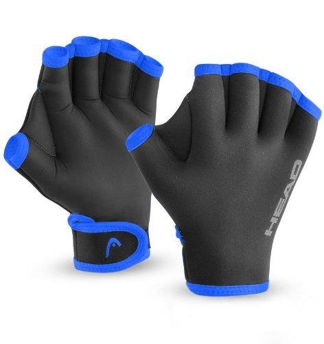 HEAD Swim Training Glove, unisex, Head Swim Glove, schwarz / blau