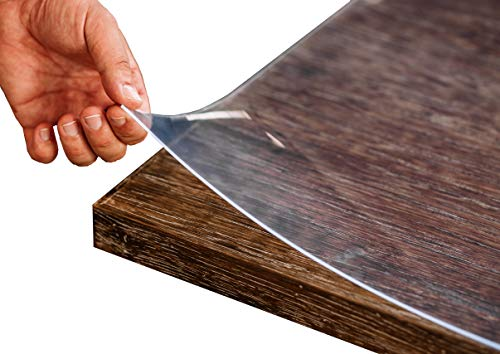 Tischfolie PVC transparent hochglanz Maßanfertigung Exakter Schnitt Tischdecke Schutzfolie Folie 2,5 mm (80 x 120 cm) - Betrieb Fabrik Chemische