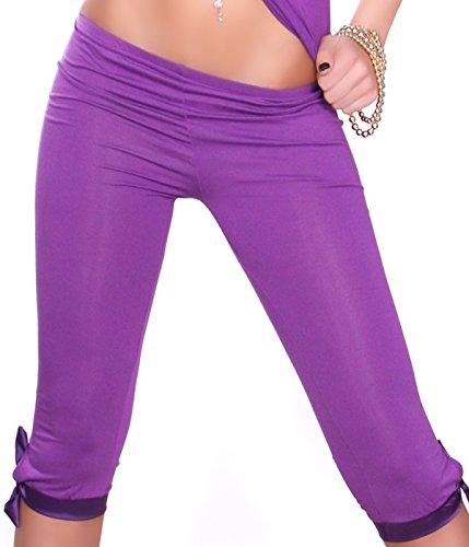 Berry Belle Capri Leggings TASHA mit Schleife - diverse Farben - One Size (Hell Lila) Bella Capri