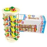 LanLan Giocattoli di legno,Rampa di Palla Pista per Palline,Chiodi e martelli per la prima infanzia,Giocattoli prima infanzia