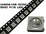 100pieza WS2812B LED RGB SMD 5050Con Controlador WS2811