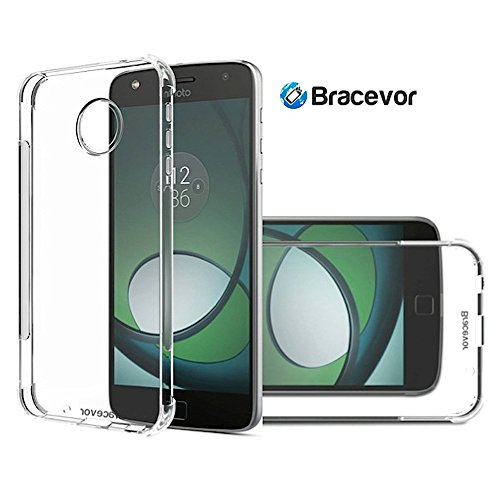 Bracevor Flexible Shockproof Moto Z Play Tpu Back Case Cover Cushioned Edges,Transparent