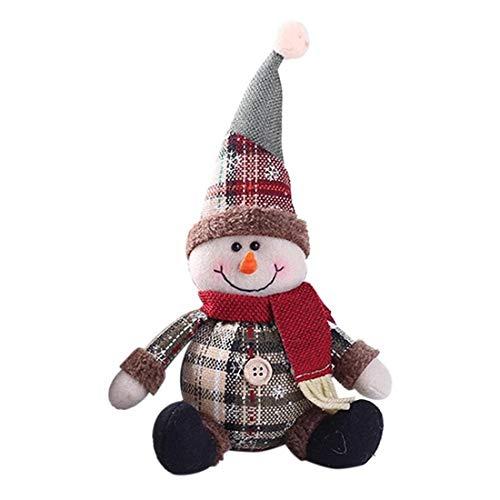 Gift Cute Santa Claus Snowman Elk Cotton Stuffed Toy Ornaments Xmas Tree Table Decoration Doll