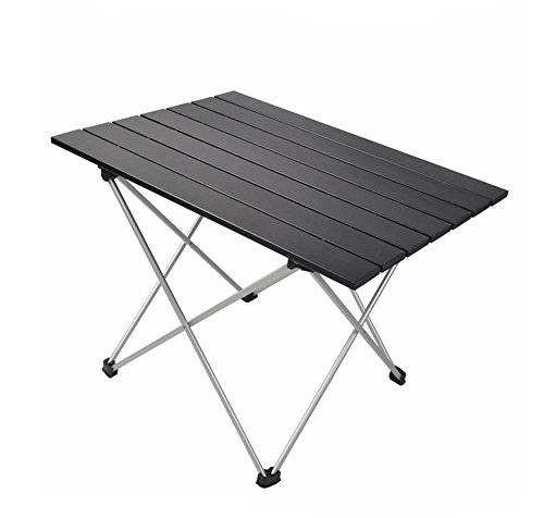 JFJL Camping Gear Aluminium Tisch Einfacher Klapptisch Kompakter Tragbarer Ultraleichter Klapptisch mit Tragetasche Zum Wandern Am Picknick-Strandboot Trekking