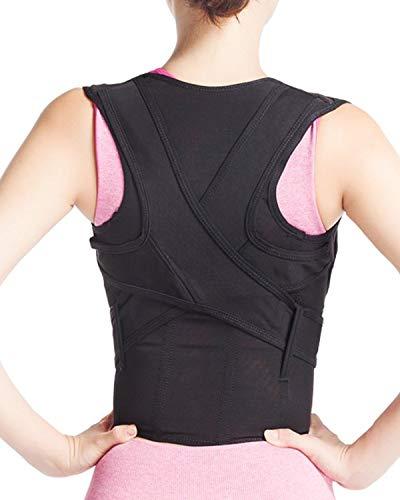 B004 - Soporte de espalda para corrección de postura, estabilizador recto, color negro