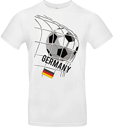 Kinder-Shirt Fussballshirt Germany, Deutschland, Land, Länder, Weiss, 128