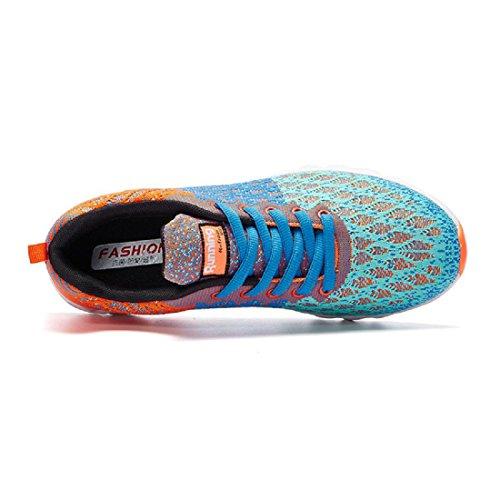 Hommes Chaussures de sport Mode Respirant Entraînement Chaussures de course Chaussures de loisirs Formateurs orange 810