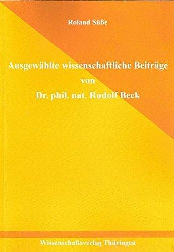 Ausgewählte wissenschaftliche Beiträge von Dr. rer. nat. Rudolf Beck Parabolspiegel-antenne