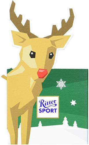 (RITTER SPORT Rentier-Würfel (12 x 83 g), 5 mini Schokoladen mit Kardamom, Zimt & Mandel, ideal als Geschenk, zu Weihnachten & Nikolaus)