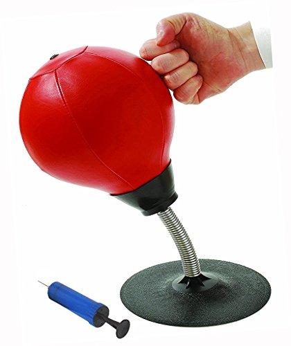 Desktop Speed Punching Ball - Einfach Installierter Mini Stick-On Boxsack Punching Ball - Heim / Büro Reliever Angst Reducer Mit Pumpe, 36 * 14Cm