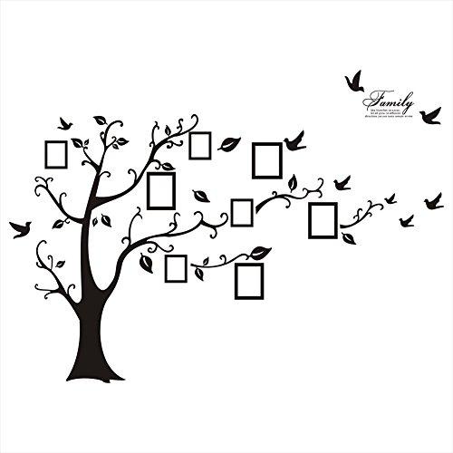 Rainbow Unicorn Großer Stammbaum Wandtattoo Fotorahmen Baum Wand Dekor Wandbild für zu Hause, Schlafzimmer Schablone Dekoration. DIY Fotogalerie Rahmen Dekor Aufkleber (Baum-schablone Für Die Wand)