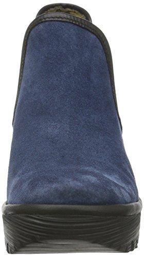 FLY London  Yat, Bottes Classics courtes, doublure froide femme Bleu (Ocean(black) 028)
