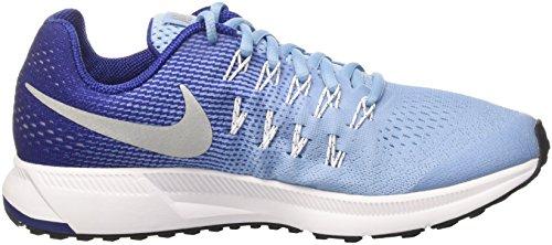 Nike Zoom Pegasus 33 (Gs), Chaussures de Sport Fille, Talla Unica Azul (Bluecap / Metallic Silver-Deep Royal Blue)