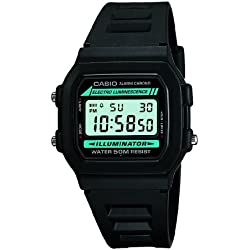 Casio W-86-1VQES Men's Digital Resin Strap Watch