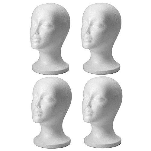 4pc Mannequin Styropor Schaum Kopf Modell Perücke Brille -