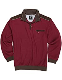 884e5bad906f hajo Troyer Sweatshirt  Stay Fresh  in dunkelrot Herren bis Übergröße 6XL