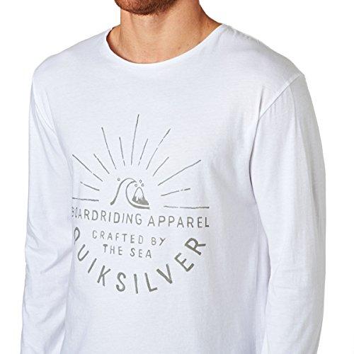 Herren Langarmshirt Quiksilver Rising Sunse T-Shirt LS White