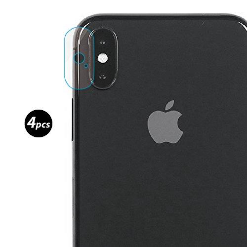 Preisvergleich Produktbild (4 Pack)EUGO iPhone X hinten Kamera Objektiv 7.5H weichen gehärteten Glas Beschützer Film