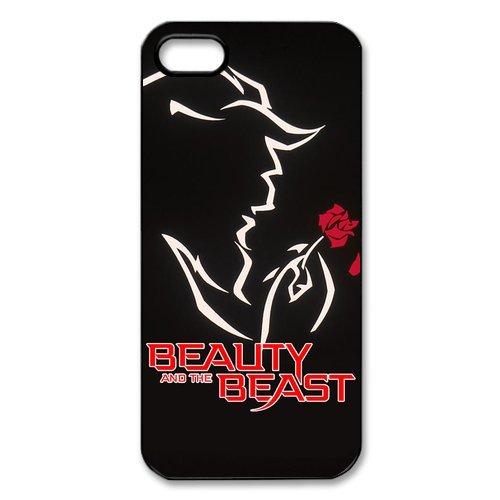 TPU Étui Coque Case Cover Pour iPhone 55S, Disney Beauty And The Beast Étui Coque pour iPhone 5S, Soft coque en silicone skin Housse Coque Shell de protection pour iPhone 55S