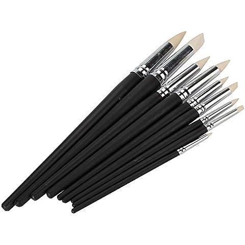 DN arcilla color Shapers Negro de madera estofada Herramientas de pintura Cerámica Paquete De 9