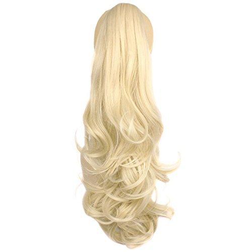 Sintetico coda di cavallo capelli parte capelli ricci haarverlaengerung treccia per capelli con clip