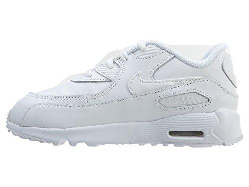 Nike Unisex – Bimbi 0-24 Air Max 90 Ltr (Td) scarpe sportive Blanco (White / White)