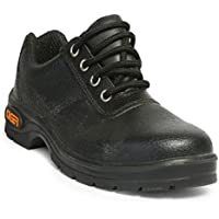 Tiger Men's Low Ankle Lorex Steel Toe Safety Shoes (Size 6 UK, Black, Leather)