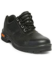 Tiger Men's Low Ankle Lorex Steel Toe Safety Shoes (Size 8 UK, Black, Leather)